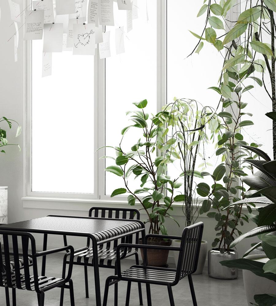3D ontwerpen van een moderne marmeren keuken