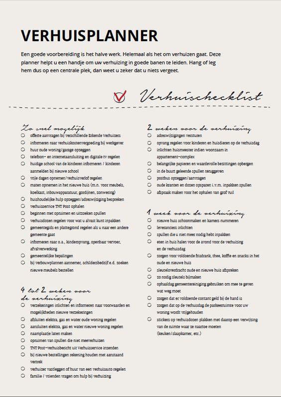 Checklist Huis Inrichten.Praktische Tips Bij Een Verhuizing Huis Inrichten Com