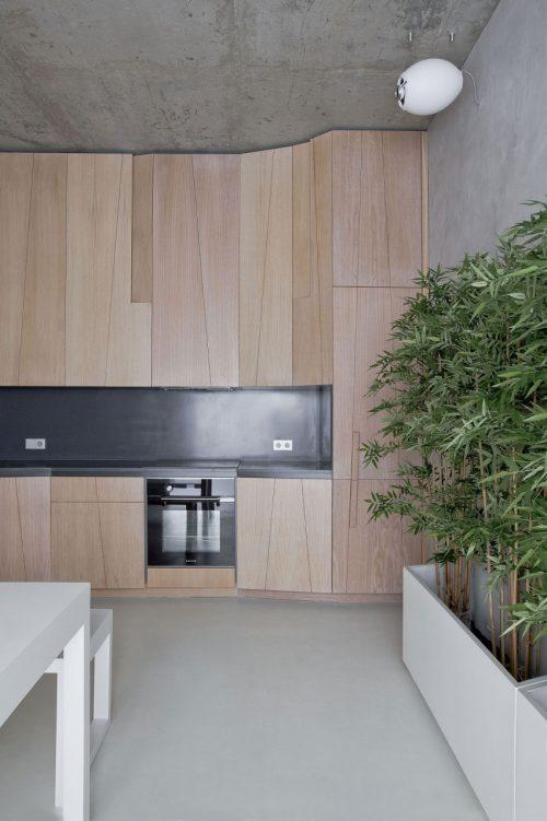 Natuurlijke landschap in een modern interieur