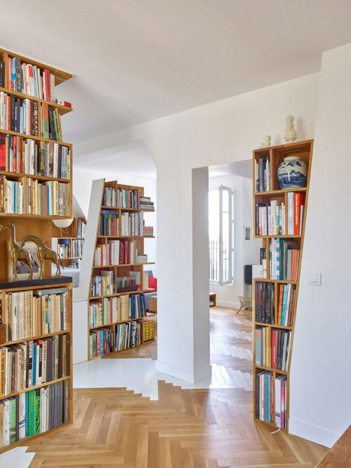 Appartement met hele bijzondere inbouwkasten