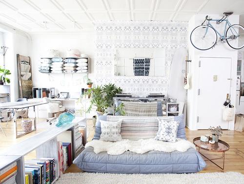 Creatieve woonkamer