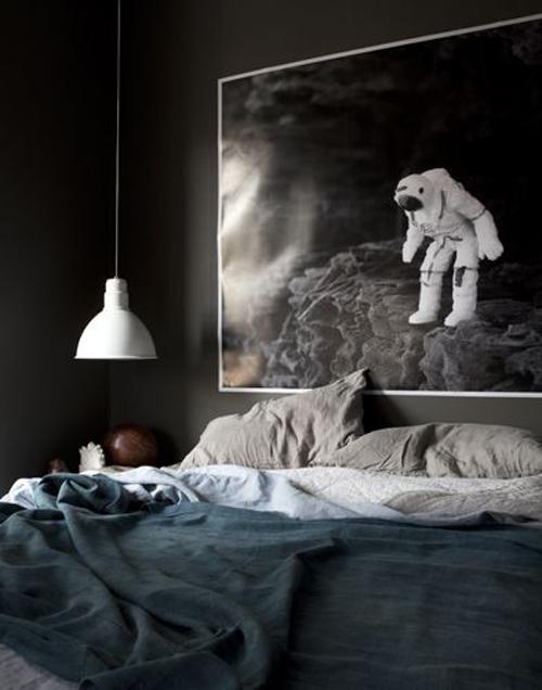 Donkere slaapkamer voorbeelden