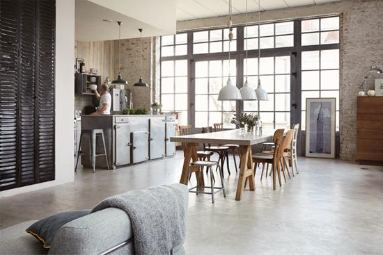 Industriële keuken met karakter