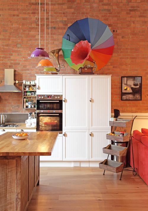 Kleurrijke eclectische keuken