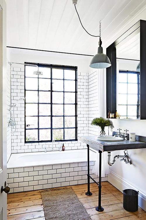 Mooie ramen in de badkamer