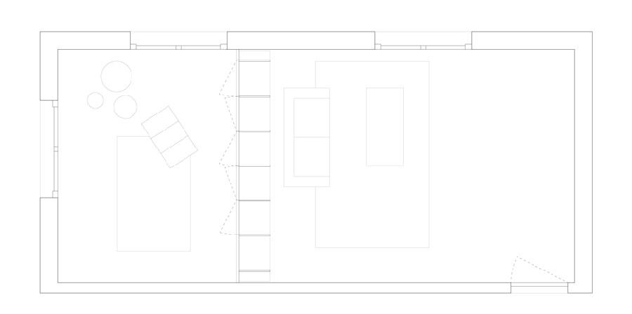 Architect Aurélie heeft deze ruimte heel leuk en creatief verdeeld!