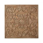 Art for the Home - Houten paneel - Bazaar Dark Wood Panel - 62x62 cm