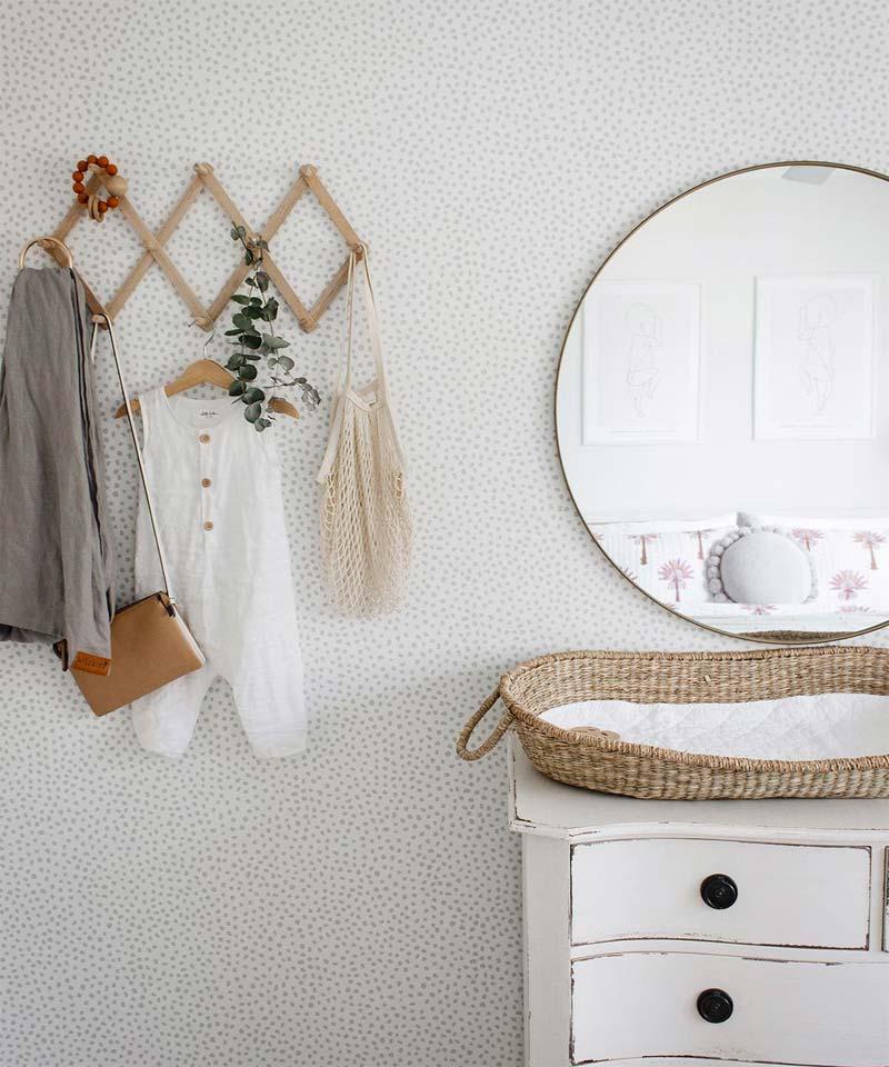babykamer inrichten tips wasbaar behang