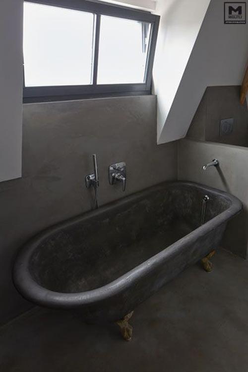 Bad met betonlook