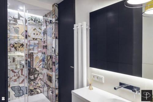 Badkamer met graffiti thema