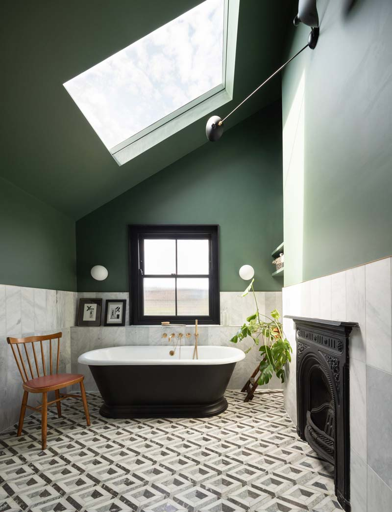 badkamer groene muren