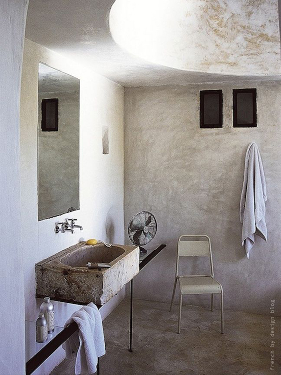 Badkamer met betonlook