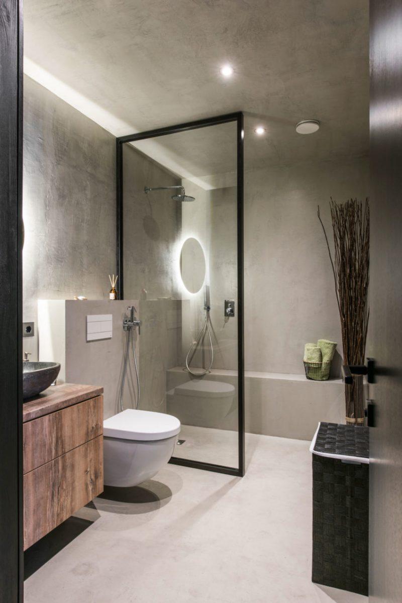 badkamer plafond beton cire