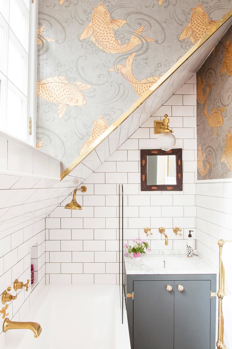 badkamer plafond glasvezelbehang