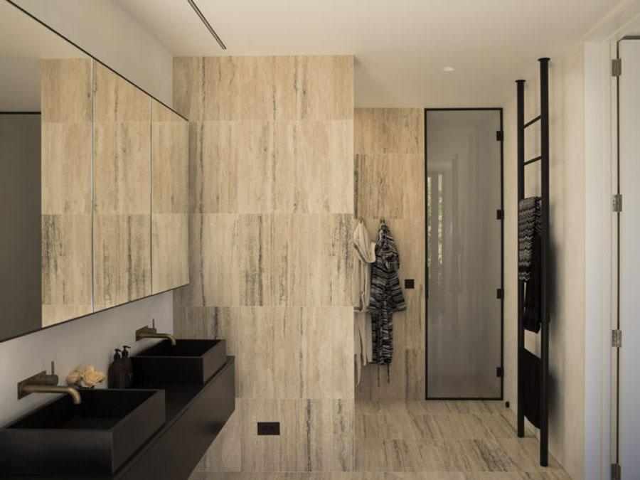 badkamers voorbeelden dubbele wastafel inbouwkraan