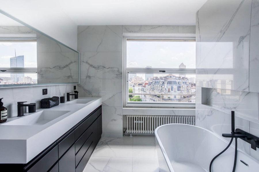Badkamers voorbeelden dubbele wastafel luxe