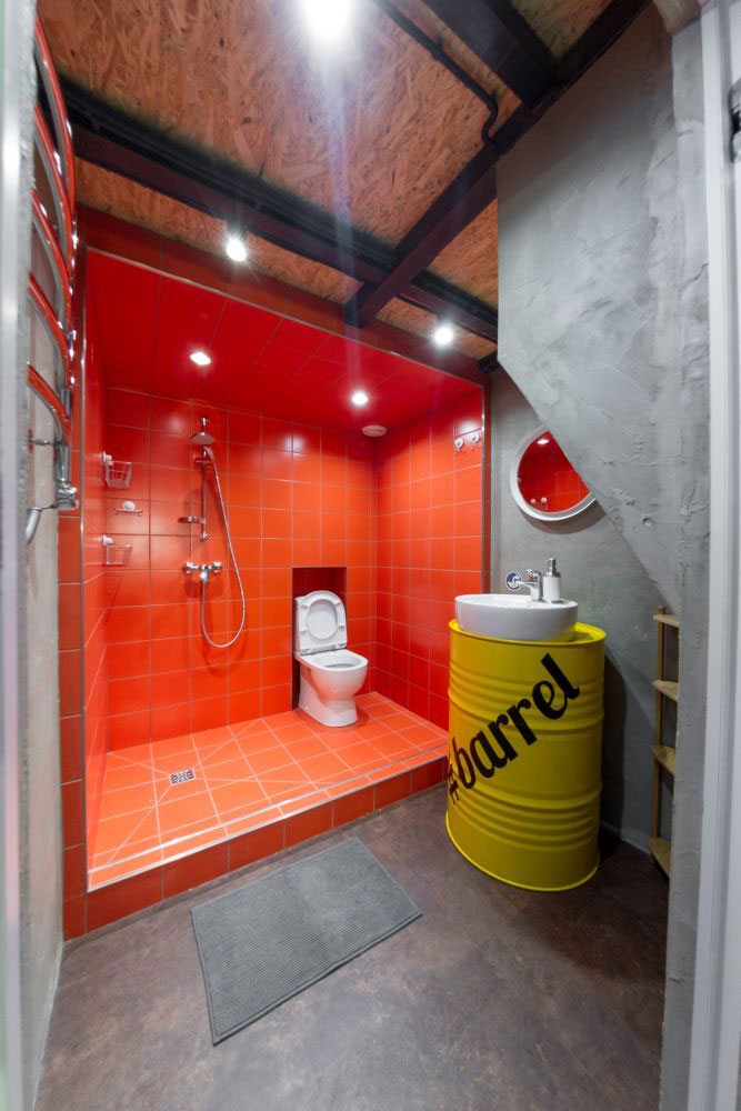 badkamers voorbeelden industrieel ton