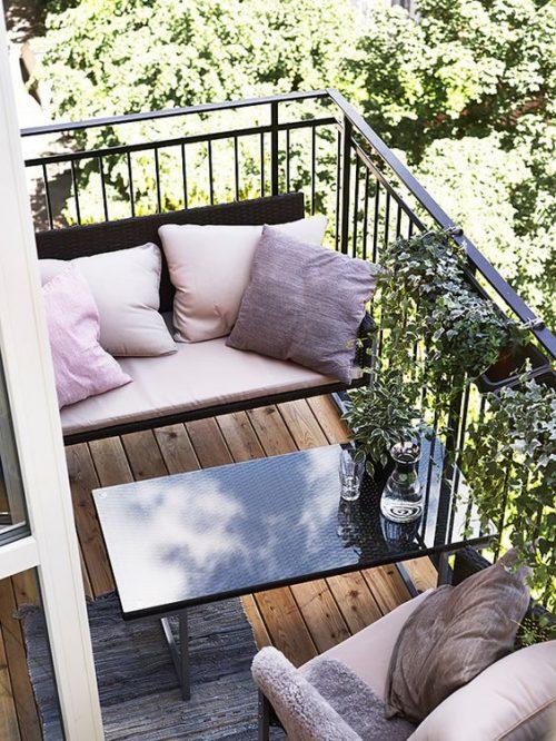 Balkon bank inspiratie
