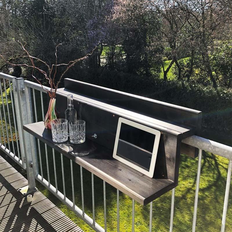 balkon ideeen balkonhek tafel de slimme balkontafel