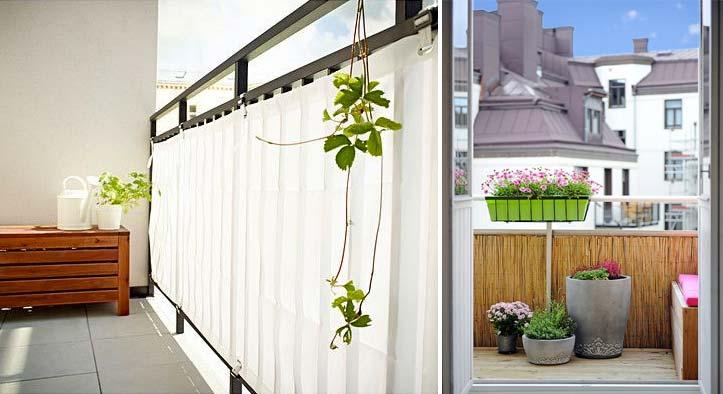 balkon ideeen balkonscherm