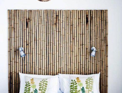 bamboe hoofdbord