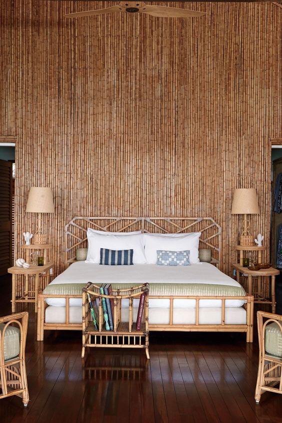bamboe muur slaapkamer