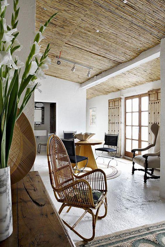 bamboe plafond