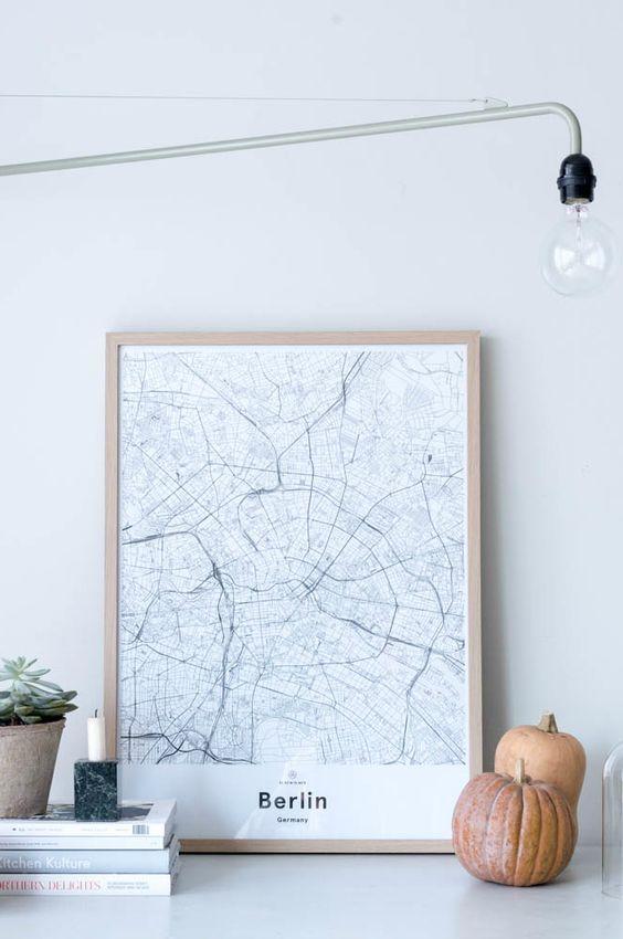berlijn-plattegrond-poster