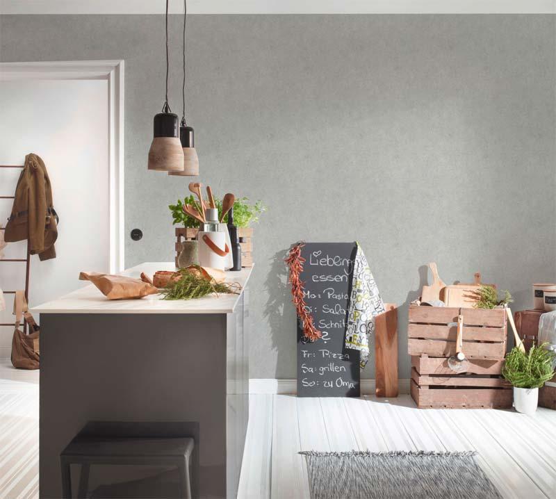 betonlook muur behang AS Création