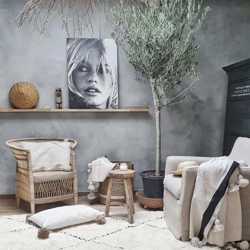 betonlook muur verf l'authentique