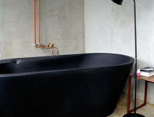 Betonstuc in de badkamer