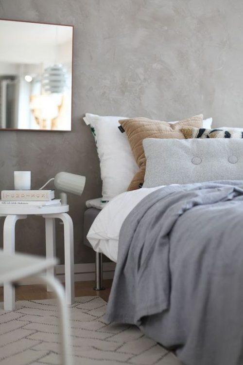 Betonstuc slaapkamer