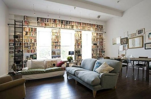 Bibliotheek woonkamer