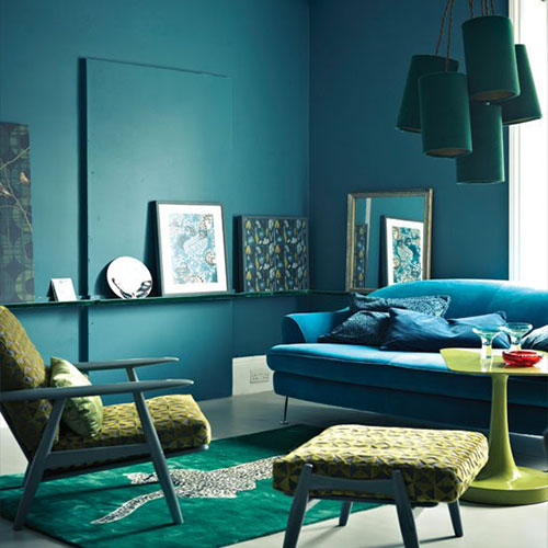 green and blue living room decor kleurinspiratie woonkamer 26114