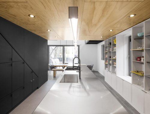 Boekenkast in keuken