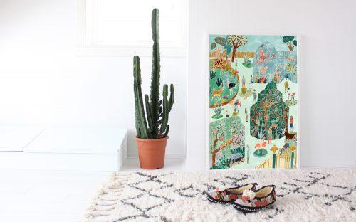 Botanische en watercolor posters van OHMYHOME