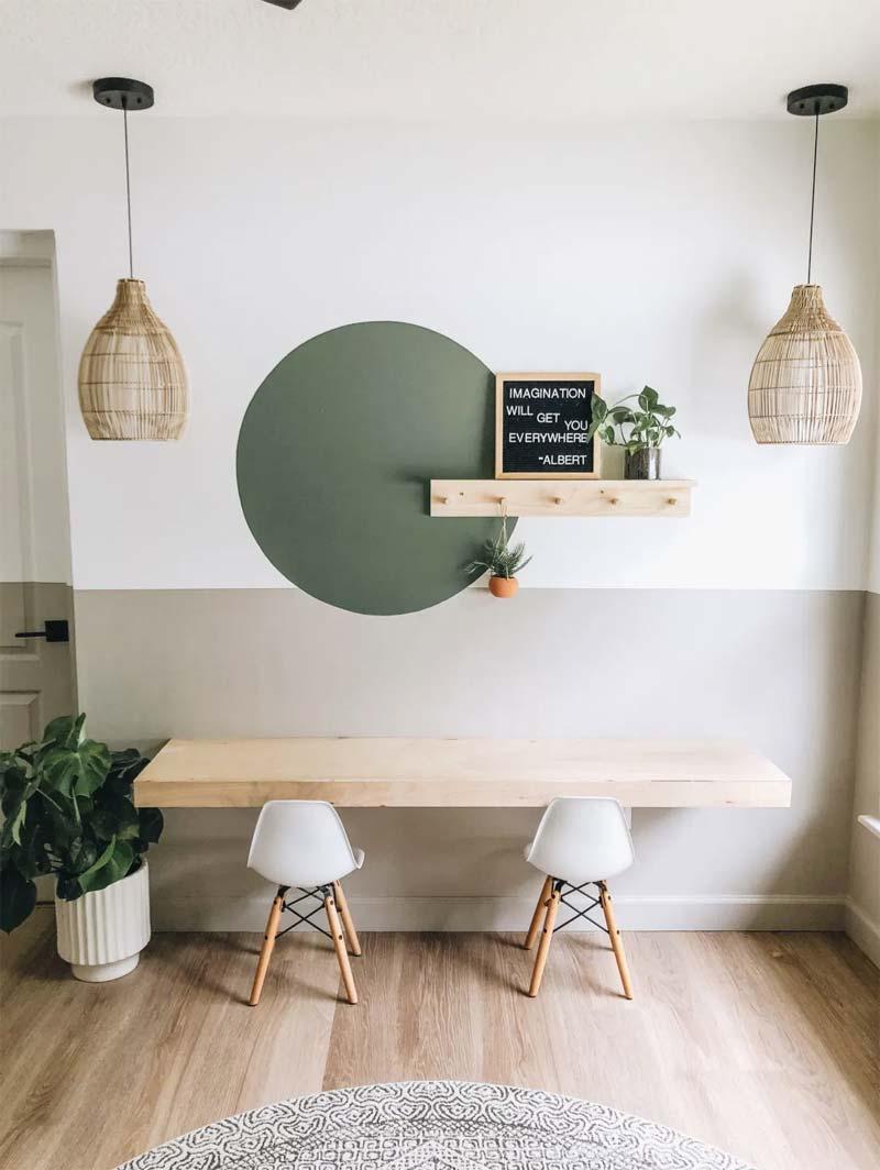 bureau maken zwevend bureau hout