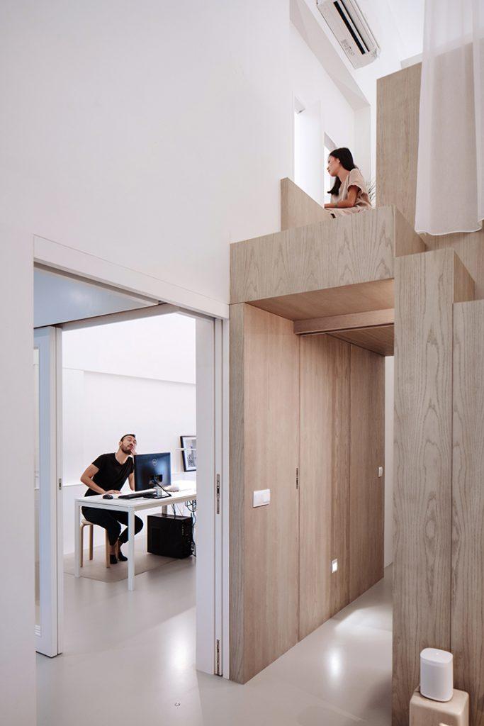 combinatie woonruimte kantoor multiplex mezzanine