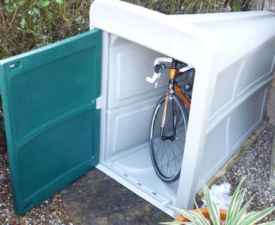 compacte fietsenstalling kleine voortuin