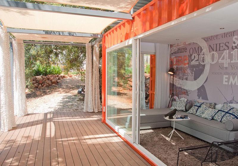 containerwoning studio arte nomad interieur