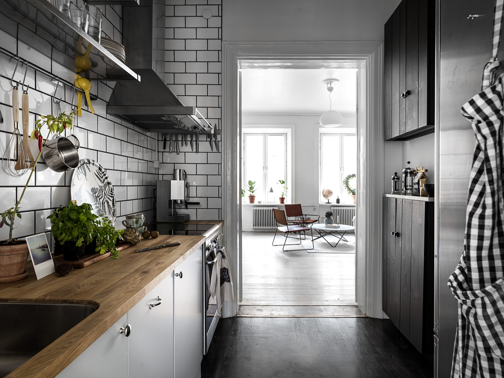 Creatief ingericht klein appartement van 44m2