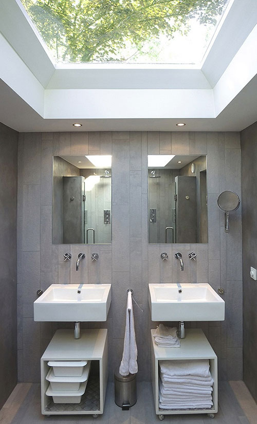 Dakraam in de badkamer
