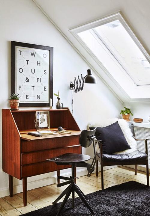 Deens appartement met rustieke retro inrichting