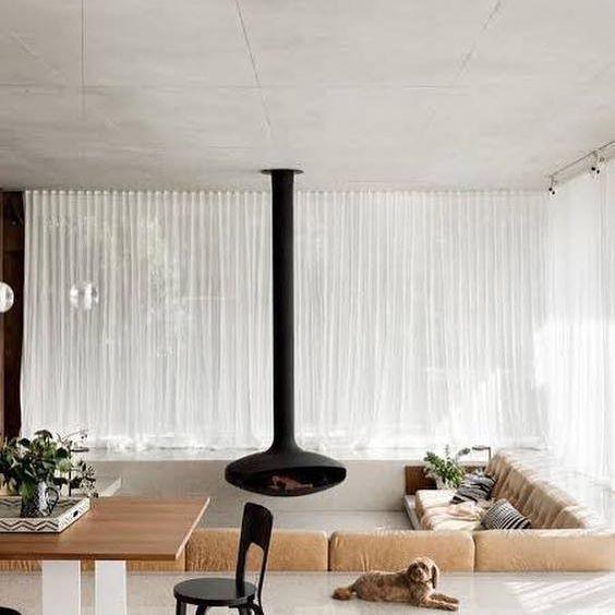 Design hangende houtkachel