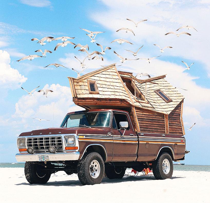 Dit stel toert in een verbouwde pickup uit 1979!