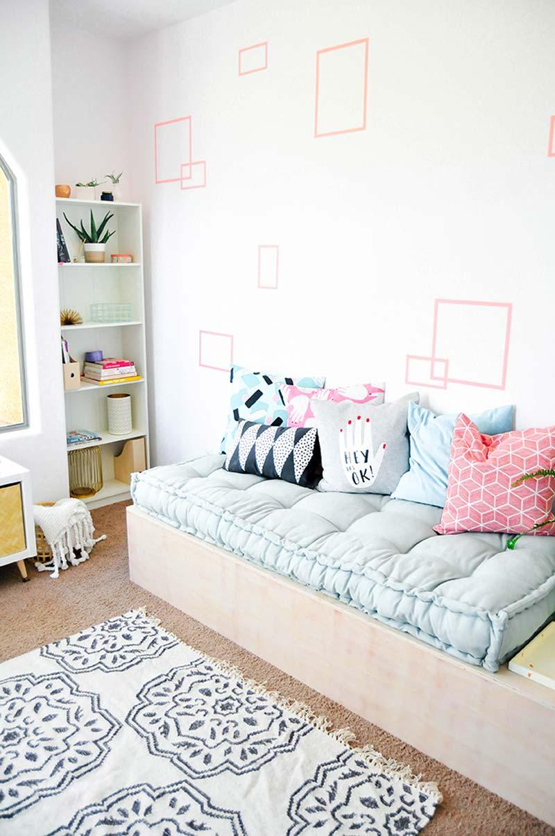 DIY daybed met opbergruimte
