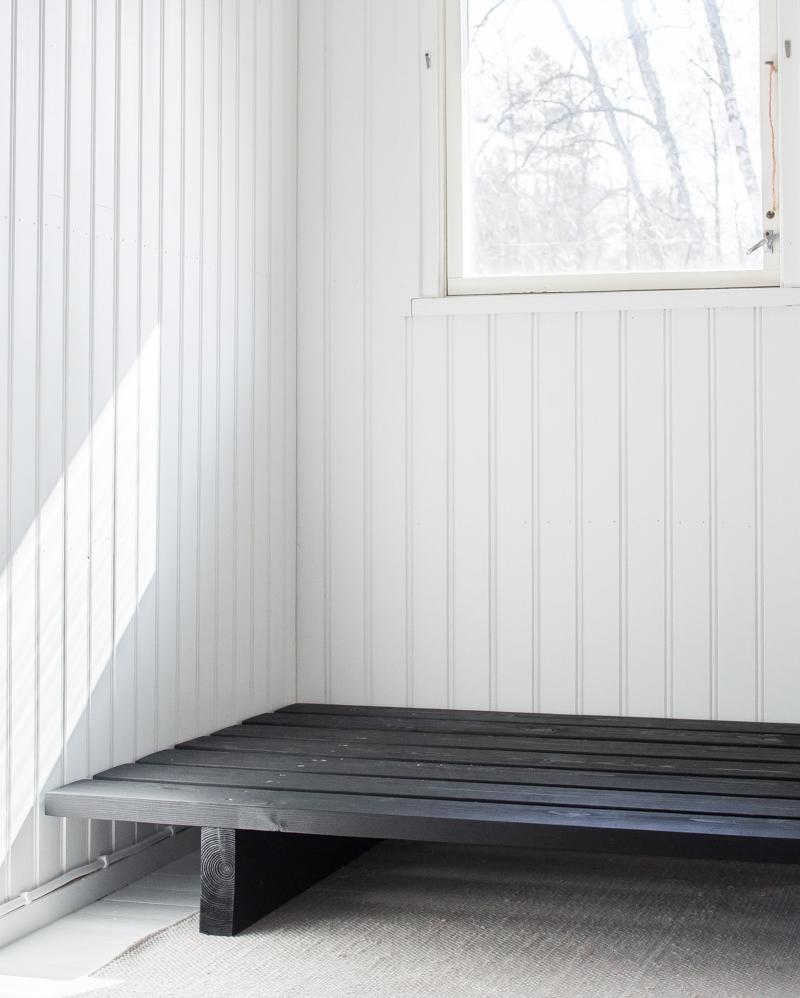 DIY daybed zwart hout