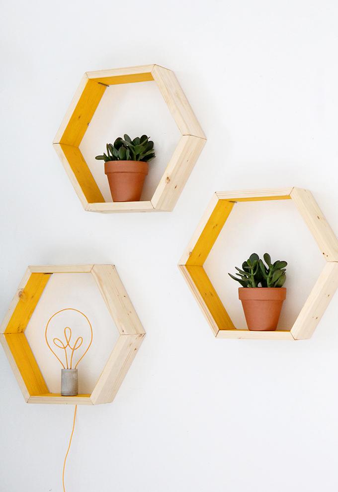 Diy Hexagon Wandkubussen Huis Inrichten Com