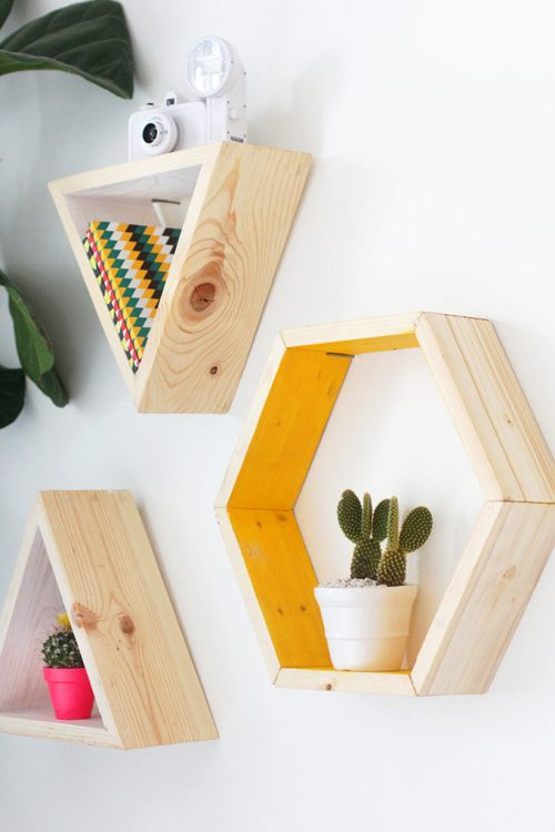 DIY hexagon wandkubussen