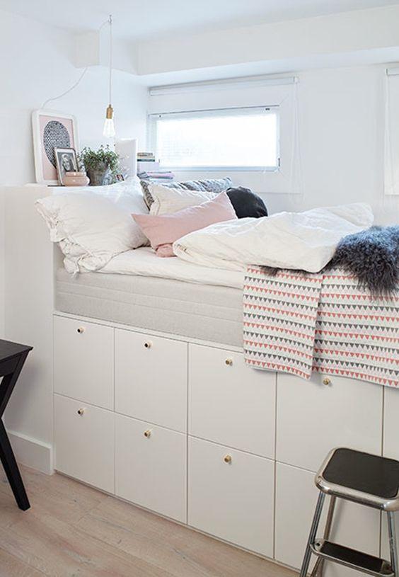 DIY kinderbed op IKEA kasten